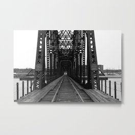 Swing Span Bridge - Davenport, Iowa Metal Print