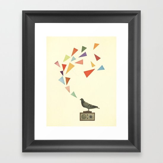 Pigeon Radio Framed Art Print