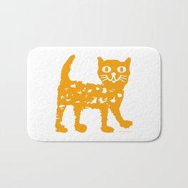 Orange cat illustration, cat pattern Bath Mat