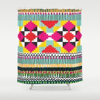 ethnic Shower Curtains featuring Ethnic by Maria Blanco