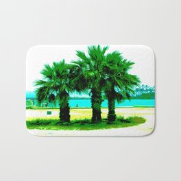 Tropical Tree Trio Bath Mat