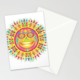 olmec tribal sun Stationery Cards
