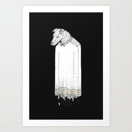 Dog City at Night Art Print