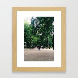 Central Park Stroll Framed Art Print