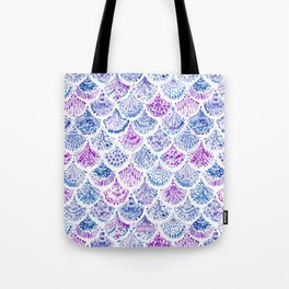 OCEAN PROTECTRESS Lavender Mermaid Scales Tote Bag