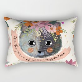 Use the power of your imagination Rectangular Pillow