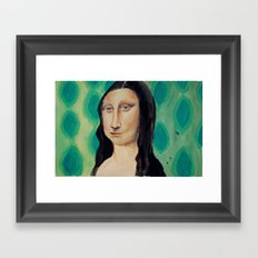 Retro Lisa Framed Art Print