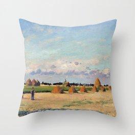 Camille Pissarro Landscape, Ile-de-France Throw Pillow