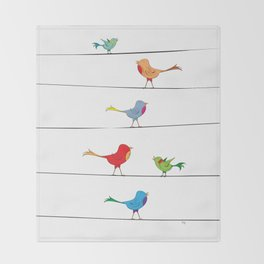 [ birds on wire ] Throw Blanket