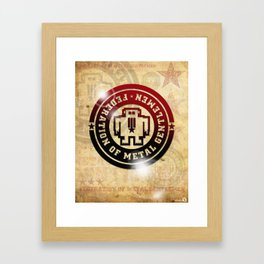 FEDERATION OF METAL GENTLEMEN LOGO Framed Art Print
