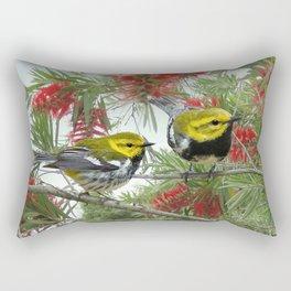 Black-throated Green Warbler Rectangular Pillow