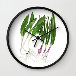 Ramps + Spring Onions Wall Clock