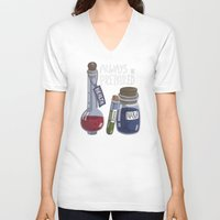 alchemy V-neck T-shirts featuring Alchemy Potions by sw4mp rat
