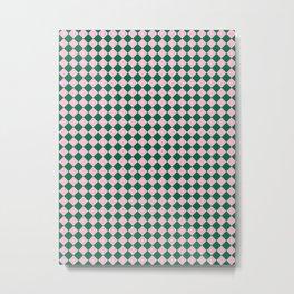 Cotton Candy Pink and Cadmium Green Diamonds Metal Print