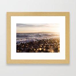 Sunrise Owen Beach, Puget Sound, Washington Framed Art Print