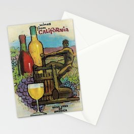 Vintage Travel Poster - Napa Valley Stationery Cards