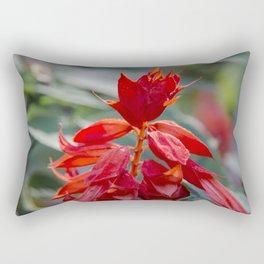 Fiercely Red Rectangular Pillow