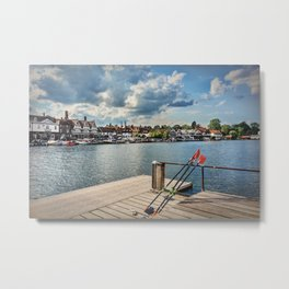 Prepared For Rowing At Henley Metal Print