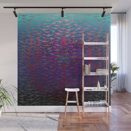 Shark Feeding Frenzy. Wall Mural
