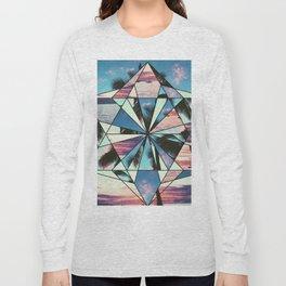 Summer Palm Tree Mosaic Long Sleeve T-shirt