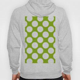 White & Apple Green Spring Polka Dot Pattern Hoody