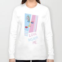 matisse Long Sleeve T-shirts featuring LOVE DISARM ME (MATISSE INSPIRATION) by munfishvisualstudio