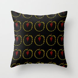 dragon and fire 2-Serpent, Reptile, draco,Mythology, Asia,Thunder,Japan,China. Throw Pillow