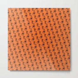Halloween Candy Pattern Metal Print