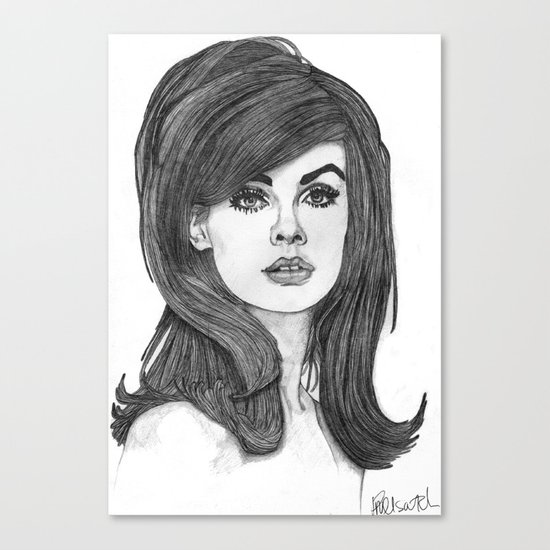 Jean Shrimpton Canvas Print