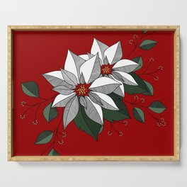 Holiday Flowers Serving Tray