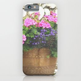Geraniums in Large Flower Pot iPhone Case