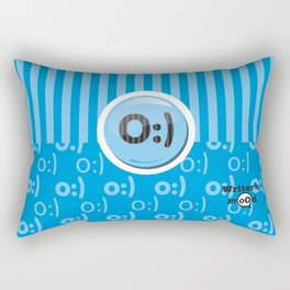 Blue Writer's Mood Rectangular Pillow