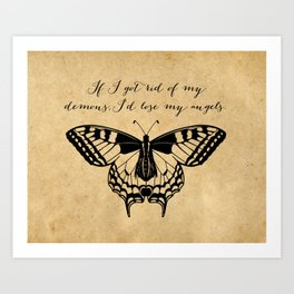 Tennessee Williams - Demons and Angels - Quote Art Print