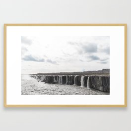 Selfoss waterfall in Iceland - nature landscape Framed Art Print
