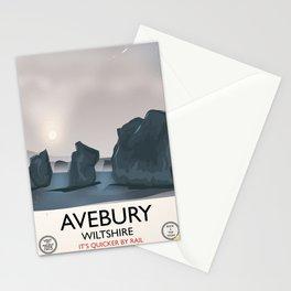 Avebury, Wiltshire Stone circle Train travel poster Stationery Cards
