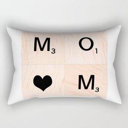 Gift for MOM Scrabble Tile Art - Mother's Day Rectangular Pillow