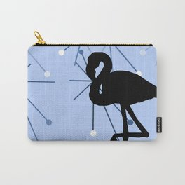 MidCentury Modern Atomic Starburts Flamingo Blue Carry-All Pouch