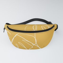 Monstera minimal - yellow Fanny Pack