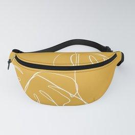 Monstera minimal - yellow Fanny Pack