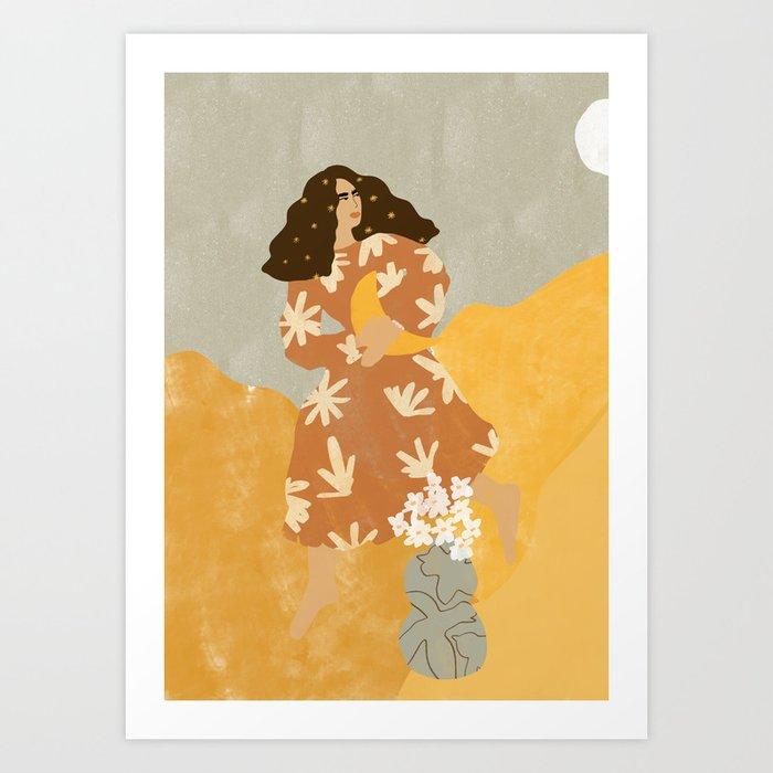 I Stole the Moon Art Print