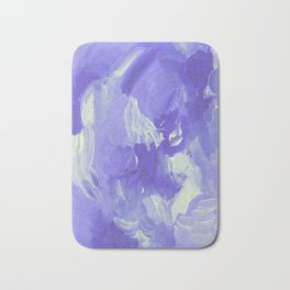 Violet Abstract Bath Mat