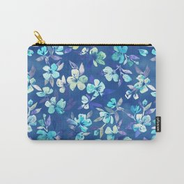 Grown Up Betty - blue watercolor floral Carry-All Pouch
