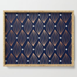 COPPER WAVE - NAVY BLUE Serving Tray