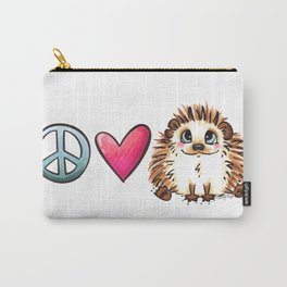 Peace, Love and Hedgehogs Carry-All Pouch