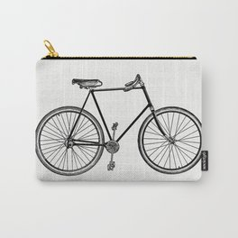 Vintage Victorian style bike engraving Carry-All Pouch