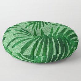 Emerald Retro Nature Print Floor Pillow