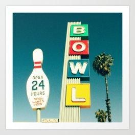 Linbrook Bowl - Anaheim, CA Art Print