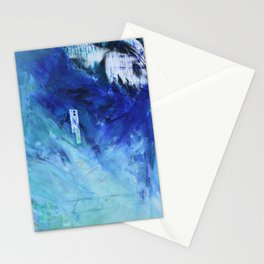 loose yourself in the blue wind Stationery Cards