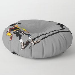 Fast shadow - OUPS - grey version Floor Pillow