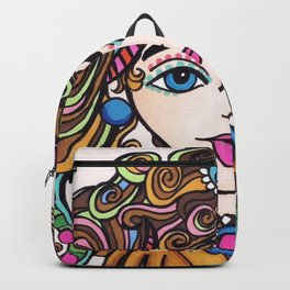 Style Girl - No 21 - Doodle Drawing Backpack
